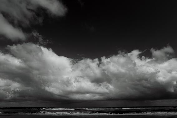 Fotografía artística mar nubes