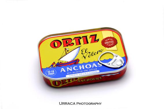 Fotografía de producto para Conservas Ortiz en Donostia